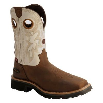 Tony Lama Men's Midland White CT/EH/WP Work Boot