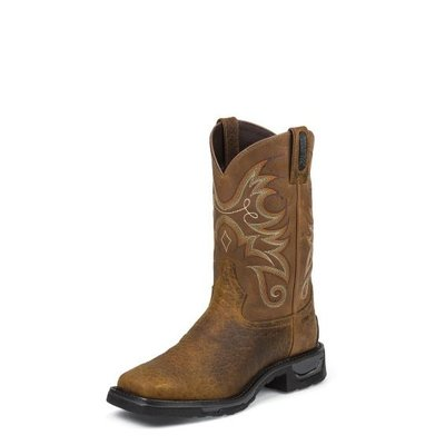 Tony Lama Men's Diboll Brown CT/EH/WP Work Boot