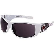 Edge Eyewear Caraz Vigilante 2 White and Grey/ Smoke Lens