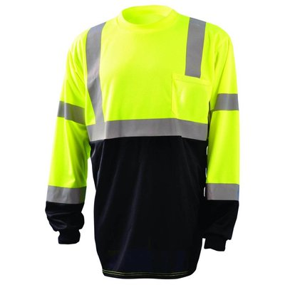 Occunomix Class 3 Hi Viz/Black Wicking Birdseye Long Sleeve Shirt
