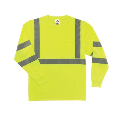 Occunomix Hi Viz Long Sleeve Lime Hi Viz Safety Shirt