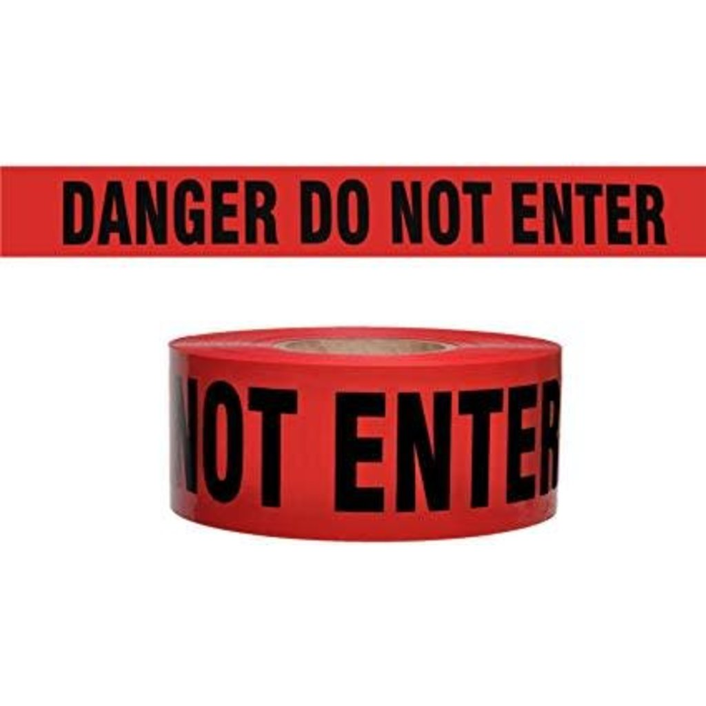 3 x1000 Danger Do not Enter Barricade Tape