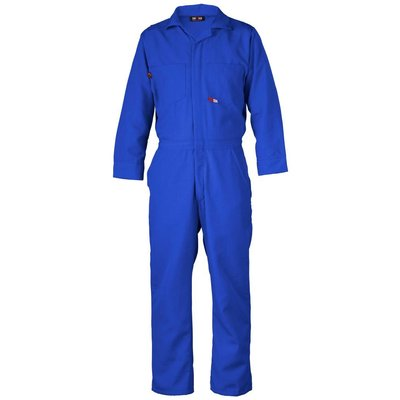 Saf-Tech Men's 9oz. Royal Blue Indura FR Cotton Coverall