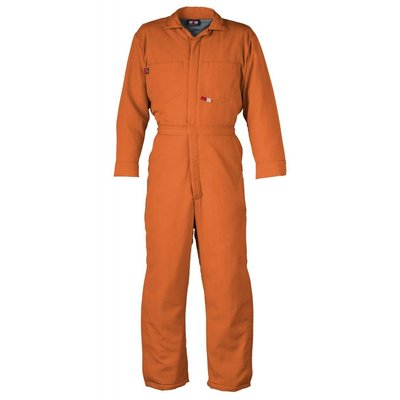 Saf-Tech Men's 9oz. Orange Indura FR Cotton Coverall
