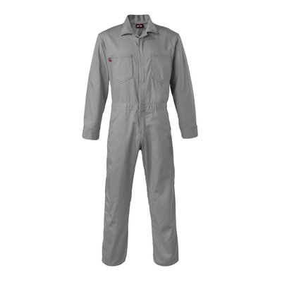 Saf-Tech Men's 9oz. Gray Indura FR Cotton Coverall