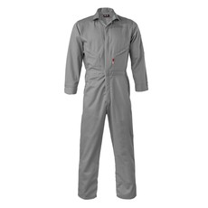 Saf-Tech Men's 7oz. Gray Indura FR Ultrasoft Coverall