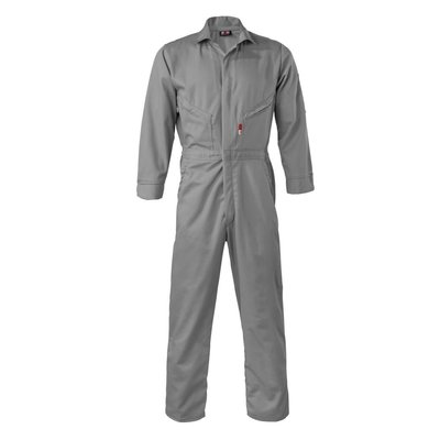 Saf-Tech Men's 7oz. Gray Indura FR Ultrasoft Coverall