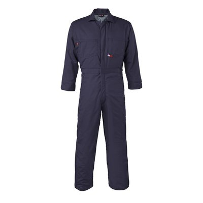 Saf-Tech Men's 9oz. Navy Blue Indura Cotton FR Insulated Coverall