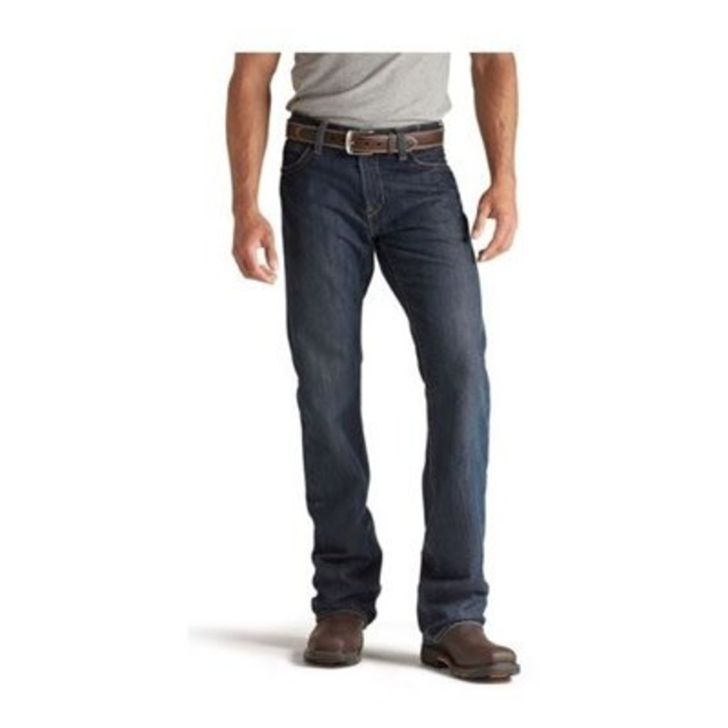 Ariat Mens FR M4 Lowrise Shale Indigo Jeans