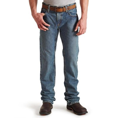 Ariat Men's FR M5 Straight Leg Clay Indigo Jeans