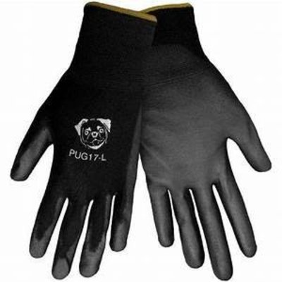 Global Glove Black Polyurethane Coated Nylon Glove