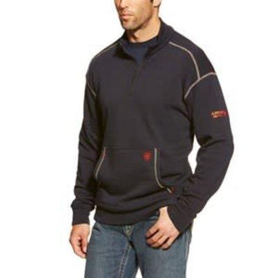 Ariat Mens FR Polartec 1/4 Zip Fleece Navy Blue Jacket