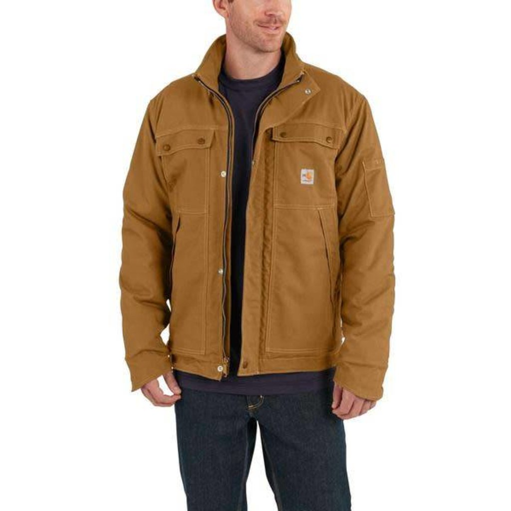 Mens Carhartt Duck Brown Fr Coat 102182 Sam S Safety Equipment