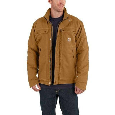 Carhartt Mens Carhartt Duck Brown FR Coat - 102182