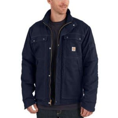 Carhartt Mens FR Dark Navy Full Swing Quick Duck Coat