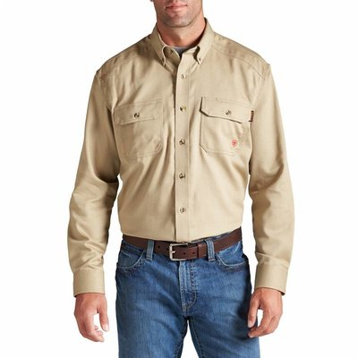 Ariat Men's Ariat FR Khaki Work Shirt