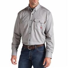 Ariat Men's FR Silver Fox Gray Work Shirt
