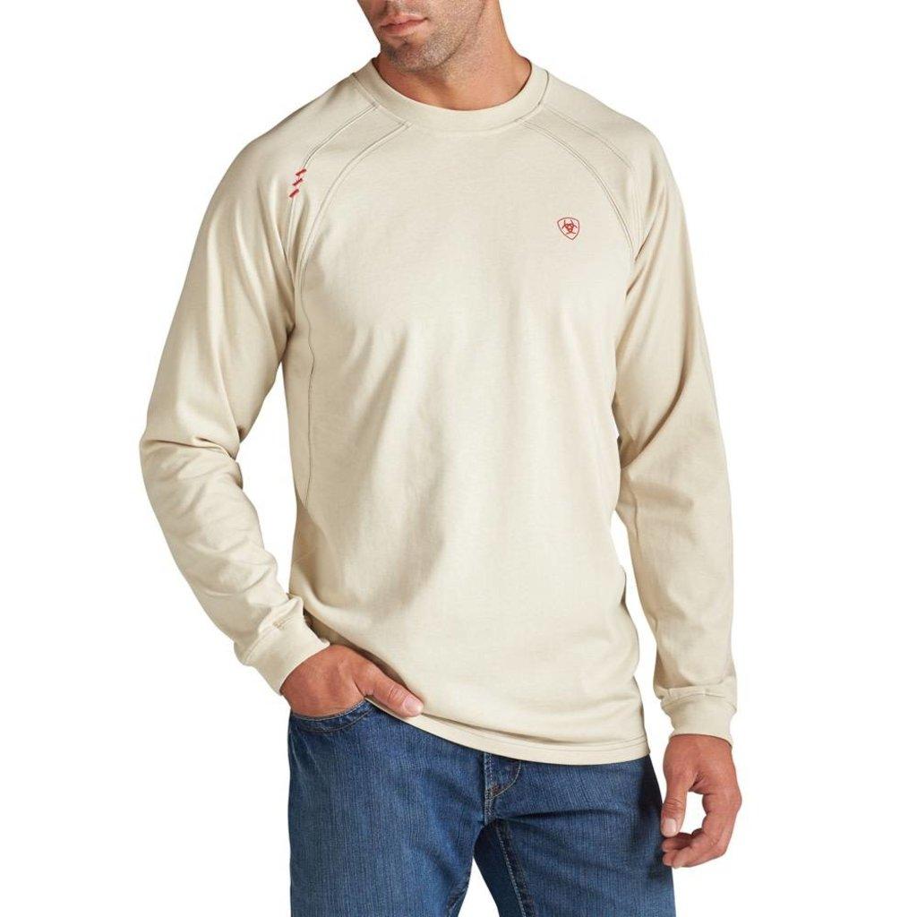 Ariat Men's FR Sand Bone Work Crew Shirt