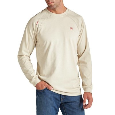 Ariat Men's FR Sand Bone Work Crew Shirt