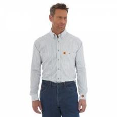 Wrangler FR Men's FR Navy/White Stripe Work Shirt
