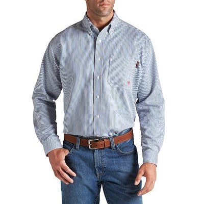 Ariat Men's FR Bold Blue Stripe Work Shirt