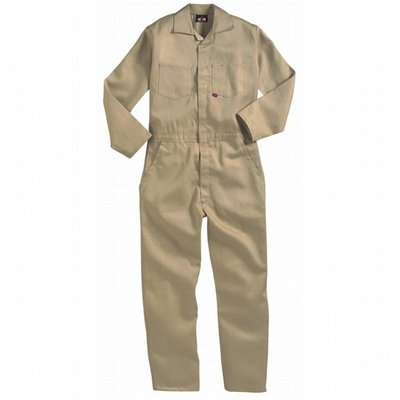 Saf-Tech Women's 9oz. Khaki Indura FR Cotton Coveralls