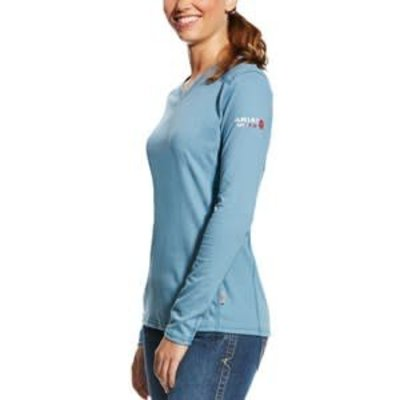 Ariat Women's FR Steel Blue AC Top Work Shirt