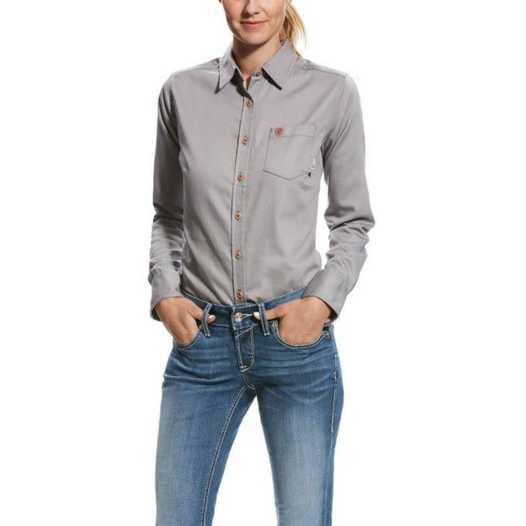 c1985a53 Women's FR Silver Fox Gray Work Shirt - Sam's Safety Equipment