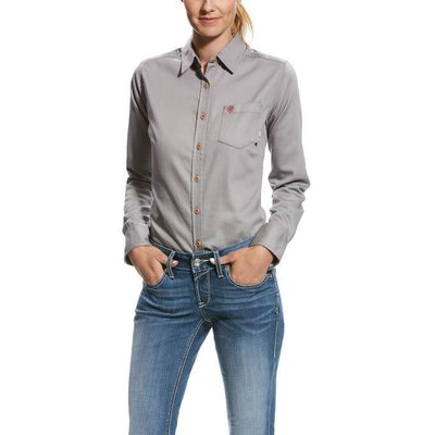 Ariat Women's FR Silver Fox Gray Work Shirt