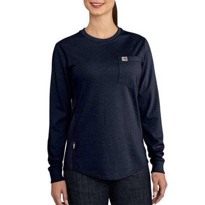 Carhartt Women's FR Light Gray Cotton Work Shirt