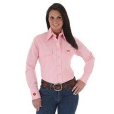 Wrangler FR Women's FR Pink Work Shirt
