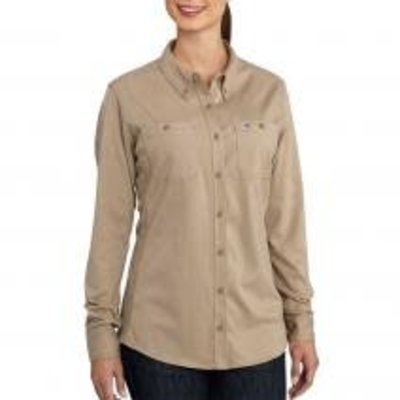 Carhartt Women's FR Khaki Twill Work Shirt