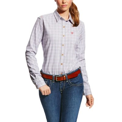 Ariat Women's FR Marion Purple Work Shirt