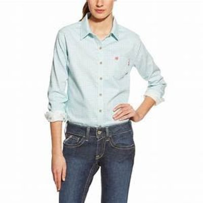 Ariat Womens FR Aqua Work Shirt