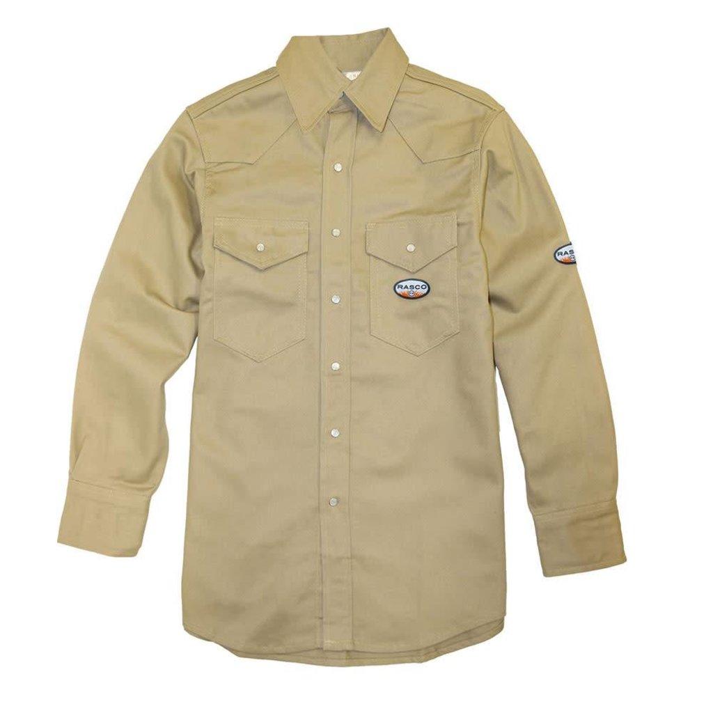 Rasco FR 10oz FR Khaki Welding Shirt