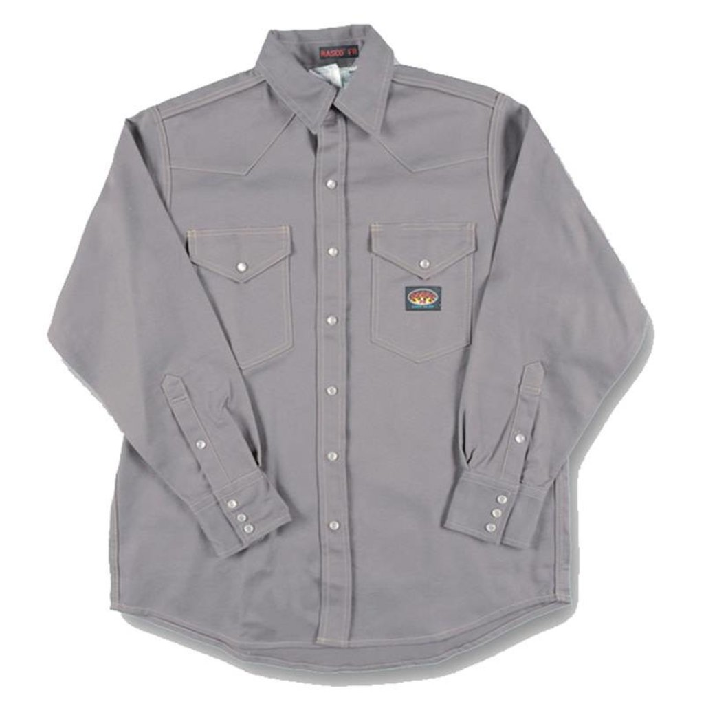 Rasco FR 10oz. FR Gray Heavyweight Welding Shirt