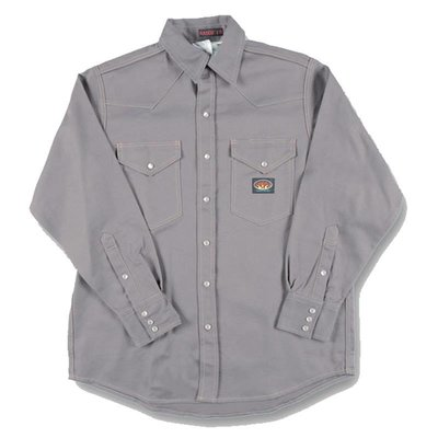 Rasco FR 10oz. FR Gray Heavyweight Welding Shirt