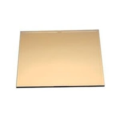 "4"" x 5"" Gold Glass Filter Plate"