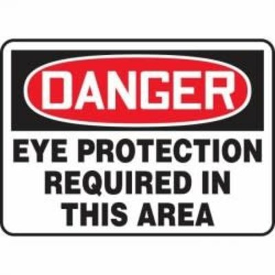 Safehouse Signs Eye Protection Required in this area 10x14 Aluminum