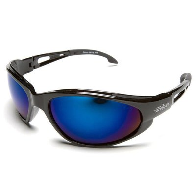 Edge Eyewear Dakura Black Frame Blue Mirror Safety Glasses