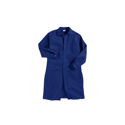 Saf-Tech Men's 7oz Navy Blue UltraSoft FR Lab Coat