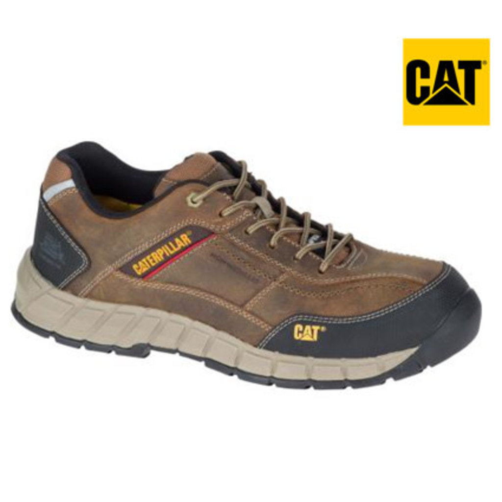 Caterpillar Men's Streamline Dark Beige CT/EH Safety Shoe