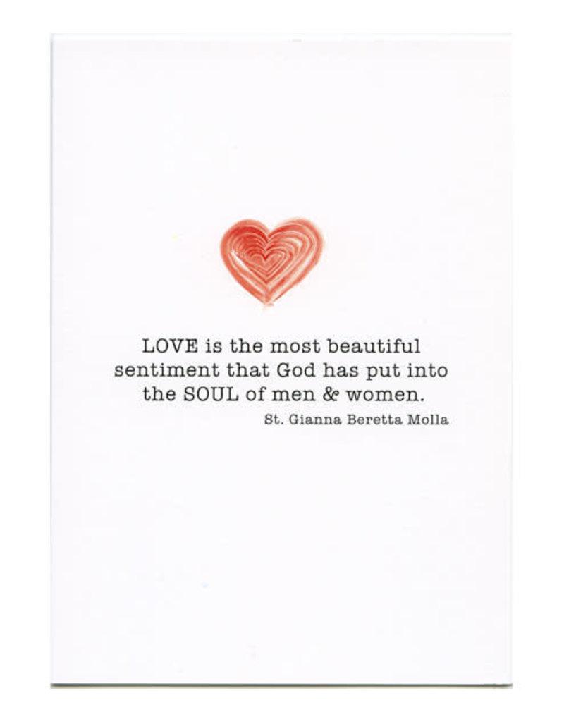 Pio Prints St. Gianna Wedding Card