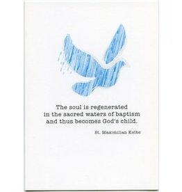 Pio Prints St. Maximilian Baptism Card