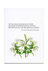 Pio Prints St. Rose Sympathy Card