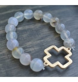 Heart On Your Sleeve Choose Love Stone Bracelet