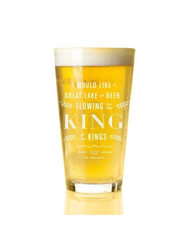 Providential Co. St. Brigid of Ireland Pint Glass