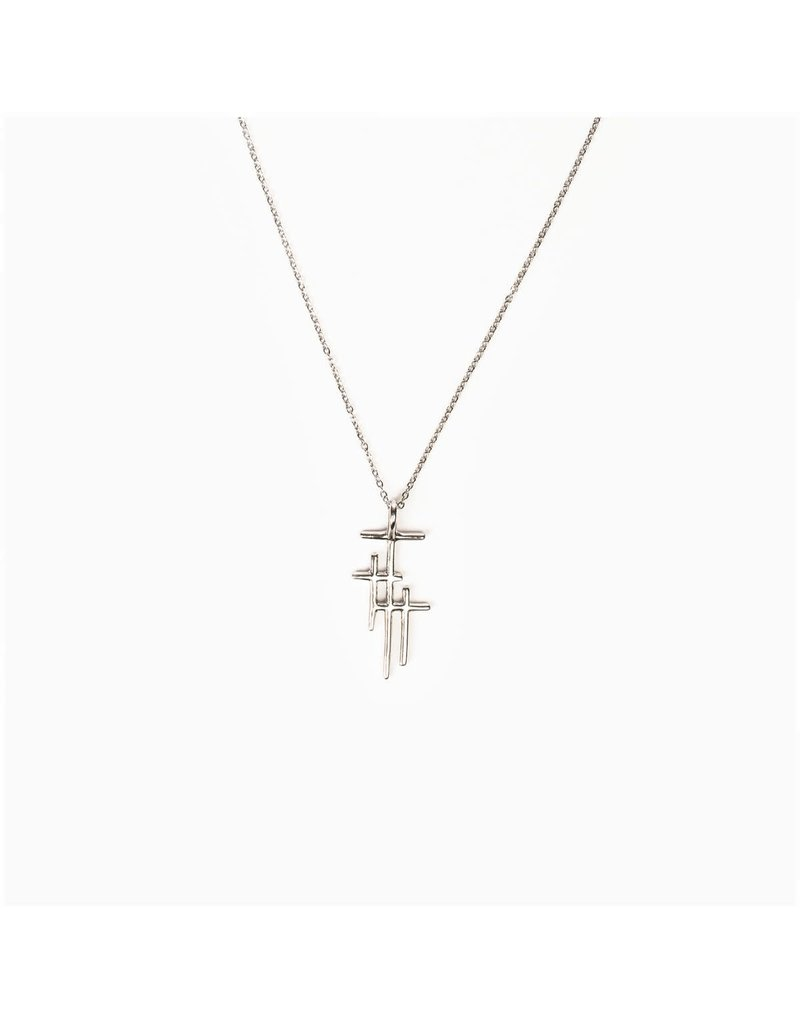 My Saint My Hero My Saint My Hero- Faithful Light Three Cross Necklace