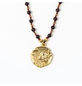 My Saint My Hero My Saint My Hero- Courage Joan of Arc Necklace- Gold