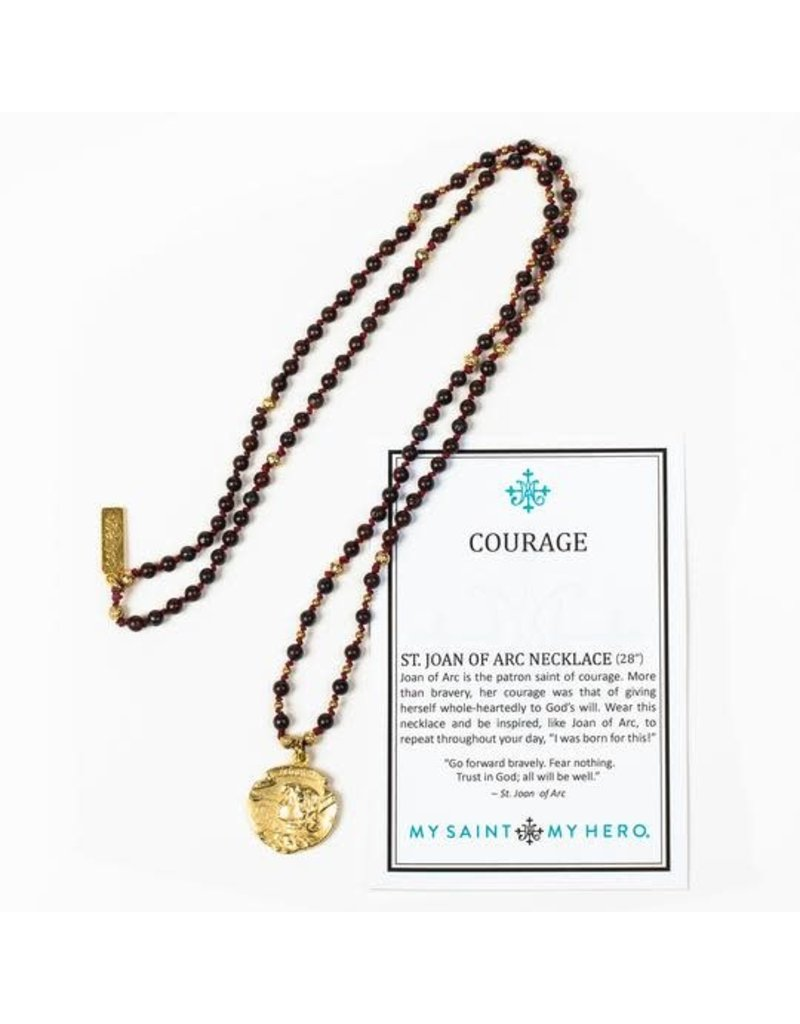 My Saint My Hero My Saint My Hero- Courage Joan of Arc Necklace- Gold